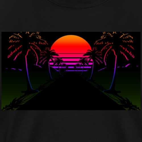 Aesthetic sunset - Mannen Premium T-shirt