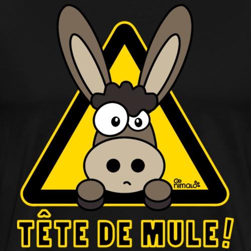 Âne, Tête de mule, tetu - T-shirt Premium Homme