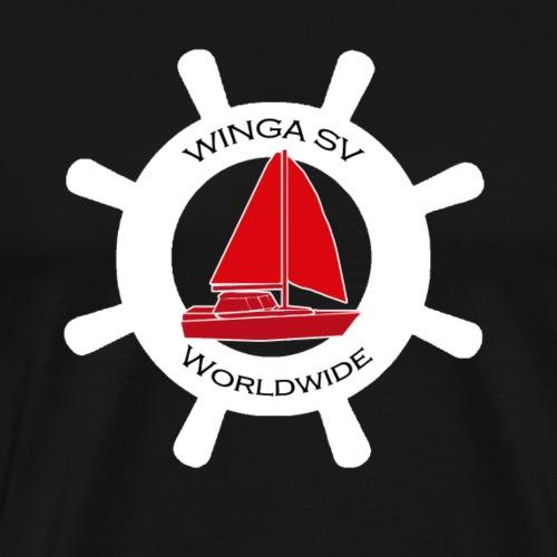 Winga Segelboote weiss/rot - Männer Premium T-Shirt