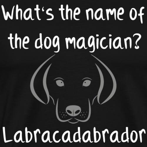 dog magician - Labracadabrador - Männer Premium T-Shirt