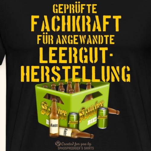 Bier Design Fachkkraft Leergut   spassprediger - Männer Premium T-Shirt
