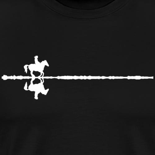 Pferd Spiegelbild horse reflection - Männer Premium T-Shirt