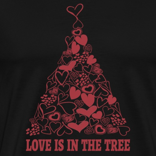 Love is in the Tree Christmas c - Männer Premium T-Shirt