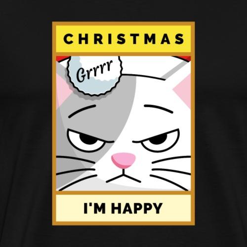 Christmas I'm happy Cat - Männer Premium T-Shirt