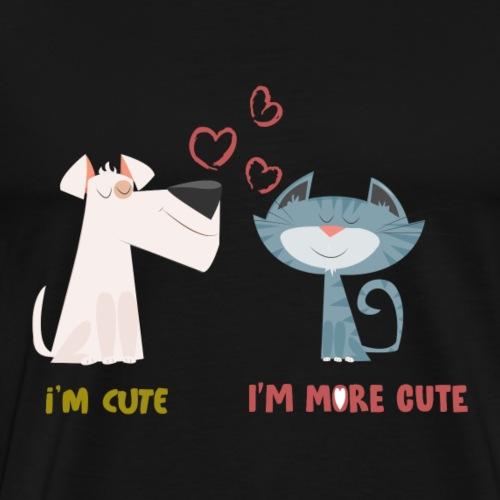 Cat Dog Love - Männer Premium T-Shirt