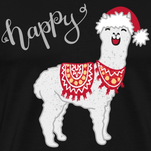happy christmas llama - Männer Premium T-Shirt