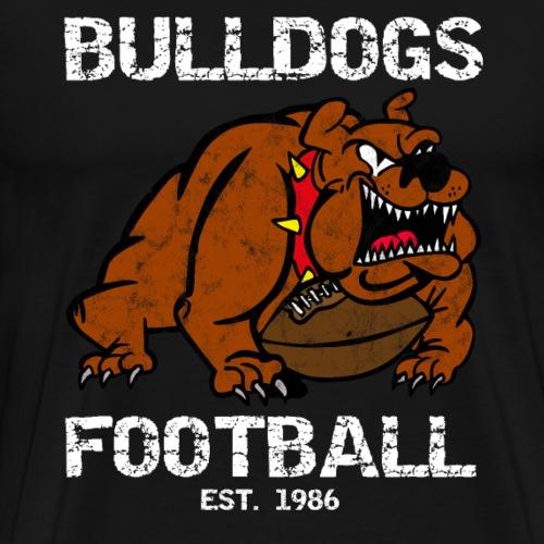 retro bulldogs football - Männer Premium T-Shirt