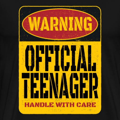 Warning official Teenager Warnschild 13 Geburtstag - Männer Premium T-Shirt