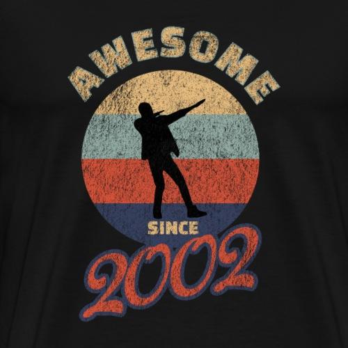 18. Geburtstag dab Silhouette Awesome since 2002 - Männer Premium T-Shirt