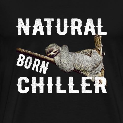 Faultier Natural born chiller lustiges Sloth - Männer Premium T-Shirt