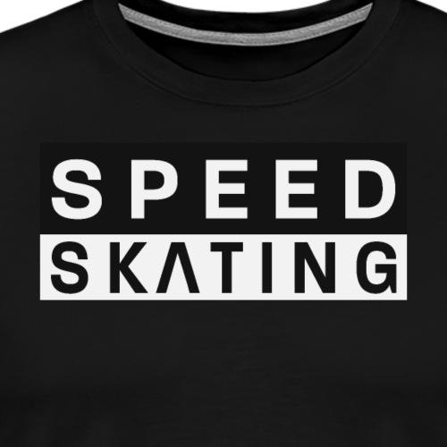 Speedskating Schrift - Männer Premium T-Shirt