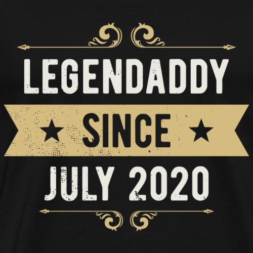 Geschenk Geburt July 2020 LEGENDADDY Papa Vater - Männer Premium T-Shirt