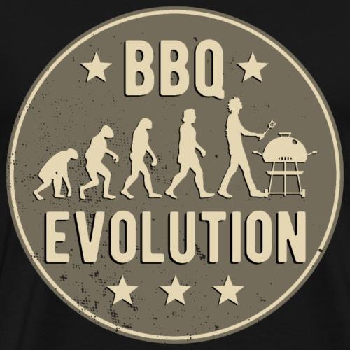 BBQ Evolution Grillen Lustig Barbeque Geschenk - Männer Premium T-Shirt