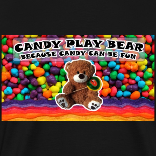 Candy Play Bear Logo - Men's Premium T-Shirt