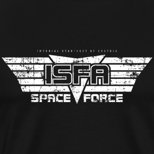 ISFA Spaceforce White grunge - Männer Premium T-Shirt