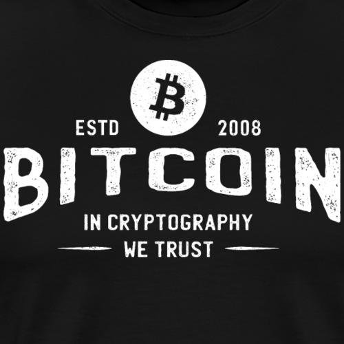 Bitcoin - Premium T-skjorte for menn