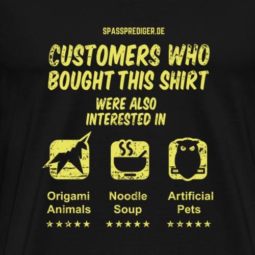 Geek T Shirt Kunden kauften auch - Männer Premium T-Shirt
