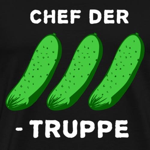 Chef der Gurkentruppe - Männer Premium T-Shirt