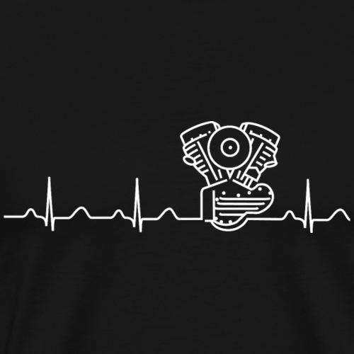 Panhead Heartbeat-Linie weiß - Männer Premium T-Shirt