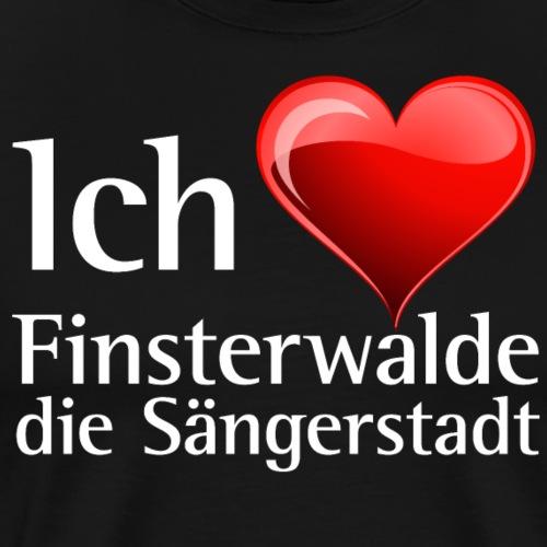 Ich liebe Finsterwalde - I love finsterwalde - Männer Premium T-Shirt