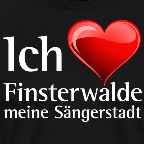 Ich liebe meine Sängerstadt - I love finsterwalde - Männer Premium T-Shirt