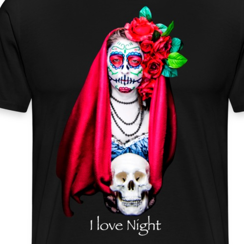 Catrina I love night - Camiseta premium hombre