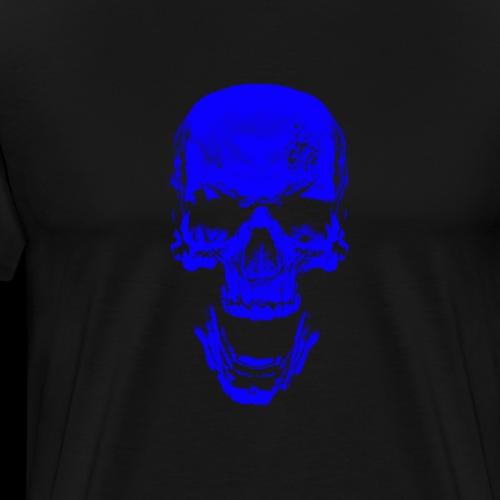 Blue Skull - Männer Premium T-Shirt