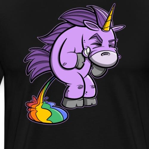 Einhorn muss mal... Rainbow Unicorn - Männer Premium T-Shirt