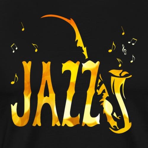 Tribal Saxophon Jazz Musik - Männer Premium T-Shirt