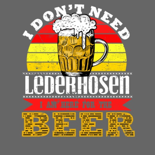 Ich bin wegen dem Bier hier - Männer Premium T-Shirt