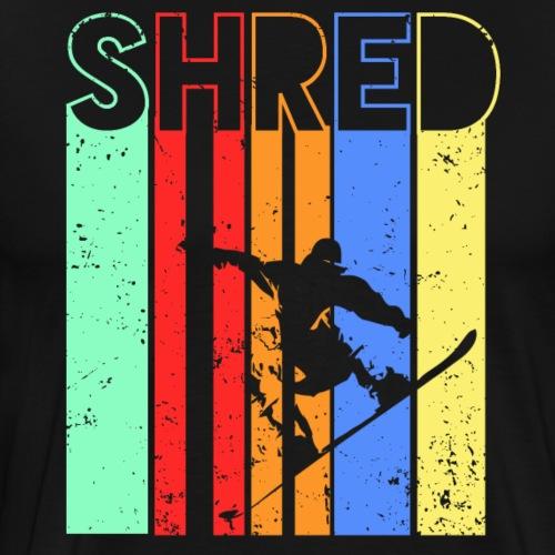 Snowboard Fahren Fetzt - Männer Premium T-Shirt
