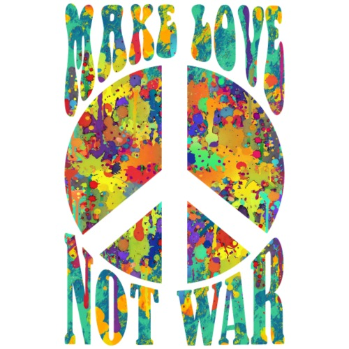 Retro Flower Power Make Love Not War 2 - Männer Premium T-Shirt