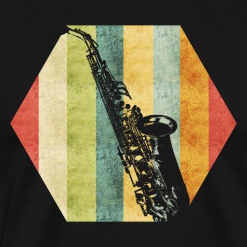 Retro Saxophon - Männer Premium T-Shirt