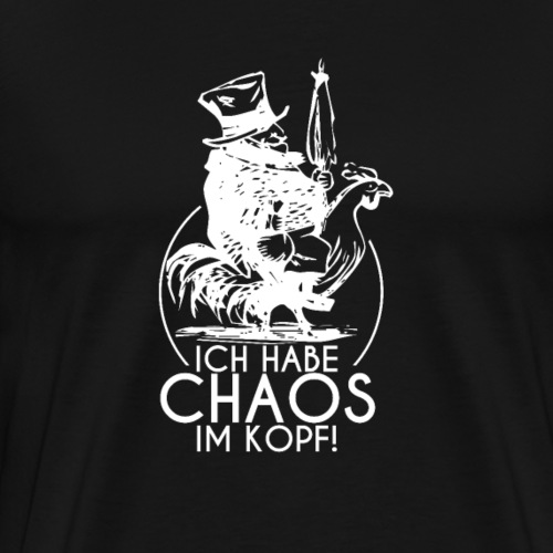 Chaos im Kopf Shirt Kopfkino Freak lustige Sprüche - Männer Premium T-Shirt