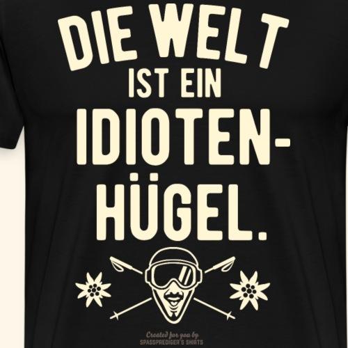 Idiotenhügel | Ski T-Shirts - Männer Premium T-Shirt