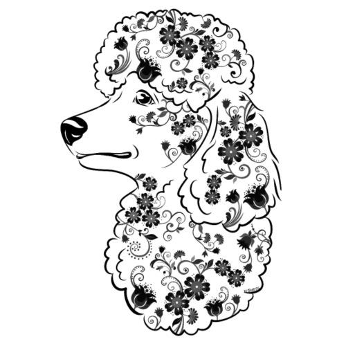 Flower Poodle IIIIV - Miesten premium t-paita