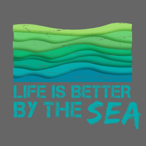 Life is better by the sea - Meeresliebhaber - Männer Premium T-Shirt