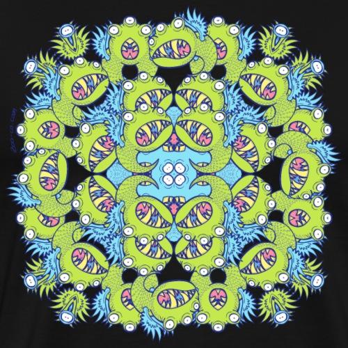Winged little monster mandala - Men's Premium T-Shirt