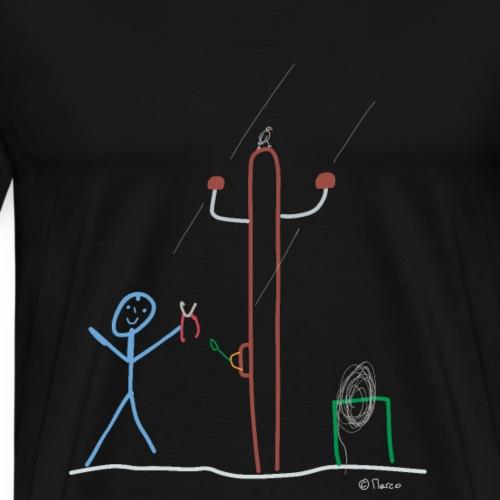 Elektriker Strichmännchen,Beruf Arbeit Karriere - Männer Premium T-Shirt