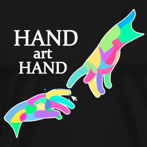 Hand Art Hand - Männer Premium T-Shirt