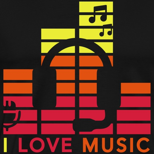 I love music Illustration Musik Drummershirts.de