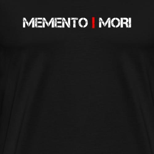 Memento Mori - Lateinischer Spruch - Männer Premium T-Shirt