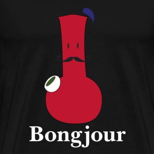 Bongjour - Bong Geschenk - Männer Premium T-Shirt