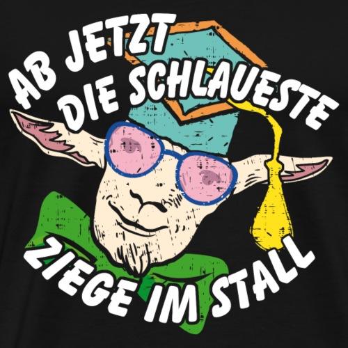 Schlaueste Ziege | Doktorarbeit | Promotion - Männer Premium T-Shirt