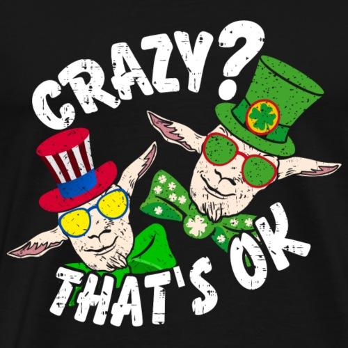 Verrückte Ziegen | Crazy Goats - Männer Premium T-Shirt