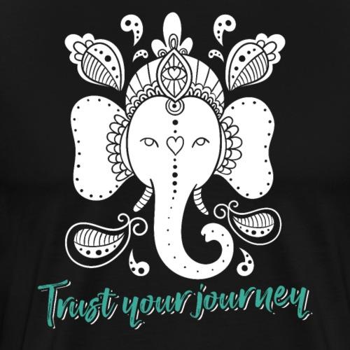 Trust Your Journey Ganesha Yoga - Männer Premium T-Shirt