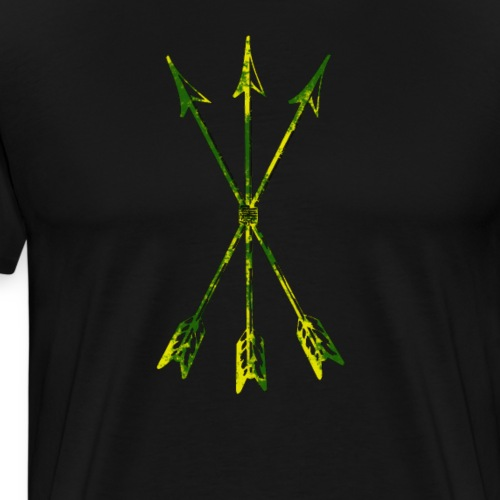 Scoia tael emblem green yellow - Men's Premium T-Shirt