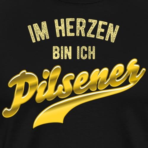 Lustges Bier-Shirt Pilsener - Männer Premium T-Shirt