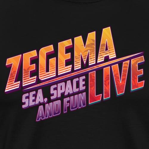 Slogan Zegema Live - T-shirt Premium Homme