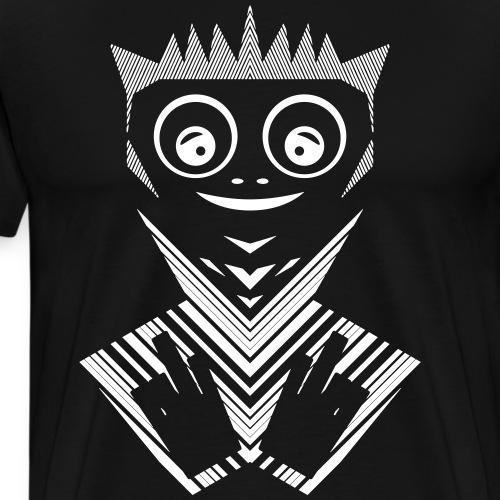 Fucker punk blanc - T-shirt Premium Homme